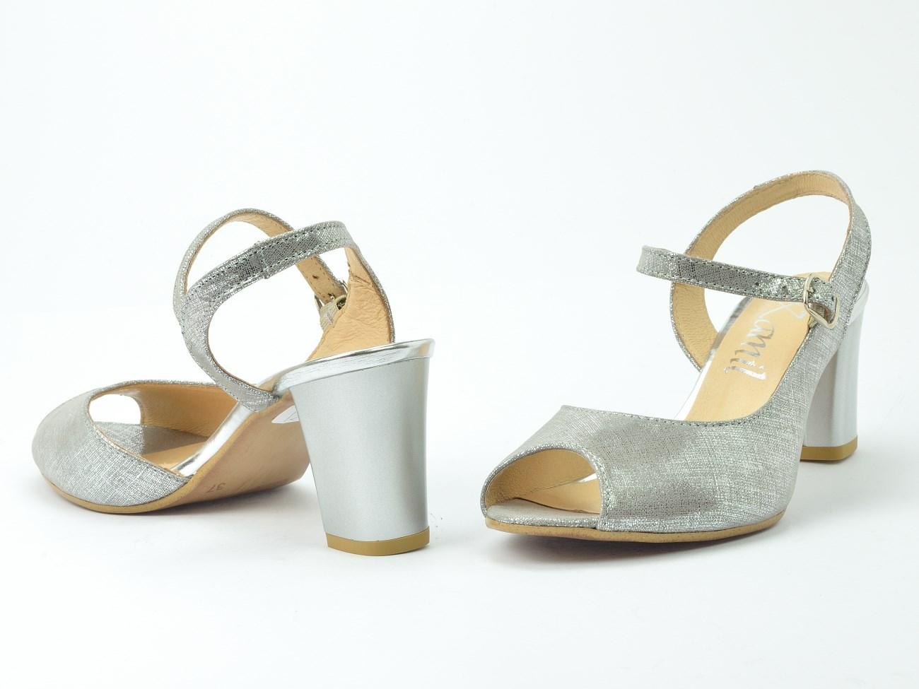 Sandały Kamil 1306 srebroszary