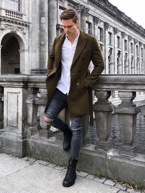 bafc7513 Sznurowane trzewiki męskie świetnie uzupełniają casualową stylizację, w  której główną rolę odgrywają jeansy. Te modele doskonale podtrzymują stopę  i ...